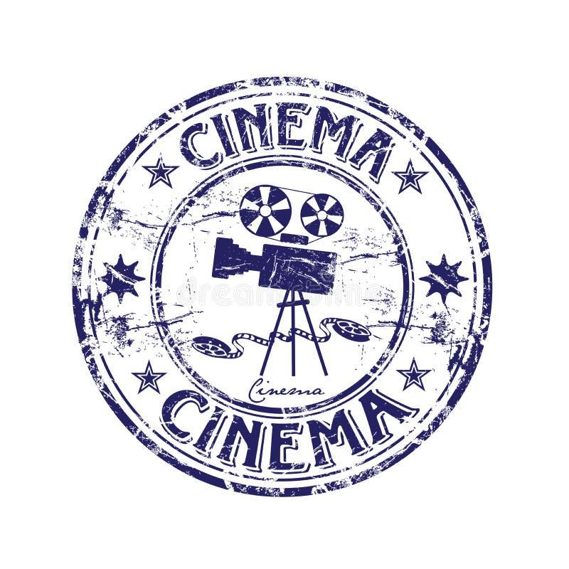 Timbro di gomma del cinematografo illustrazione vettoriale