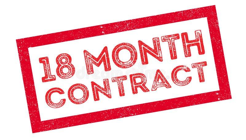 timbro di gomma del contratto da 18 mesi illustrazione di stock
