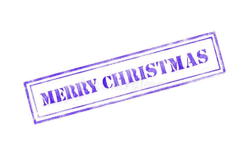 timbro di gomma del ` di Buon Natale del ` sopra un fondo bianco royalty illustrazione gratis