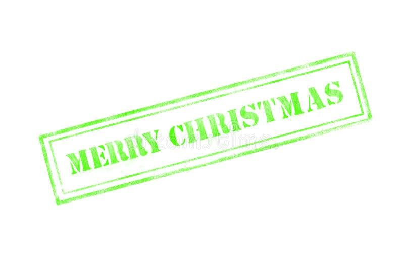 timbro di gomma del ` di Buon Natale del ` sopra un fondo bianco illustrazione vettoriale