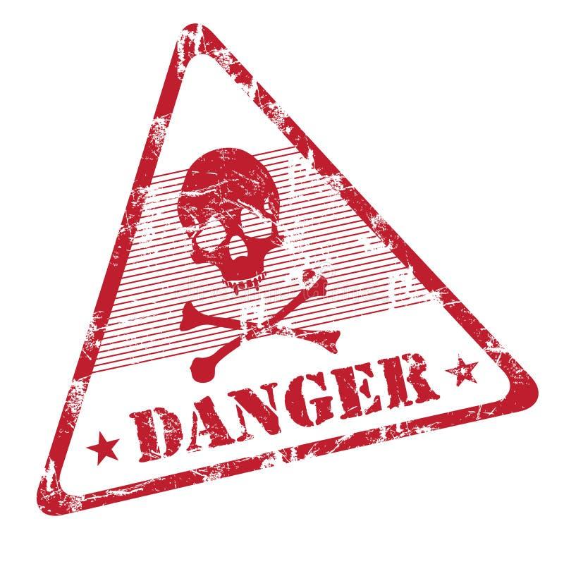 Timbro di gomma del grunge del pericolo illustrazione di stock