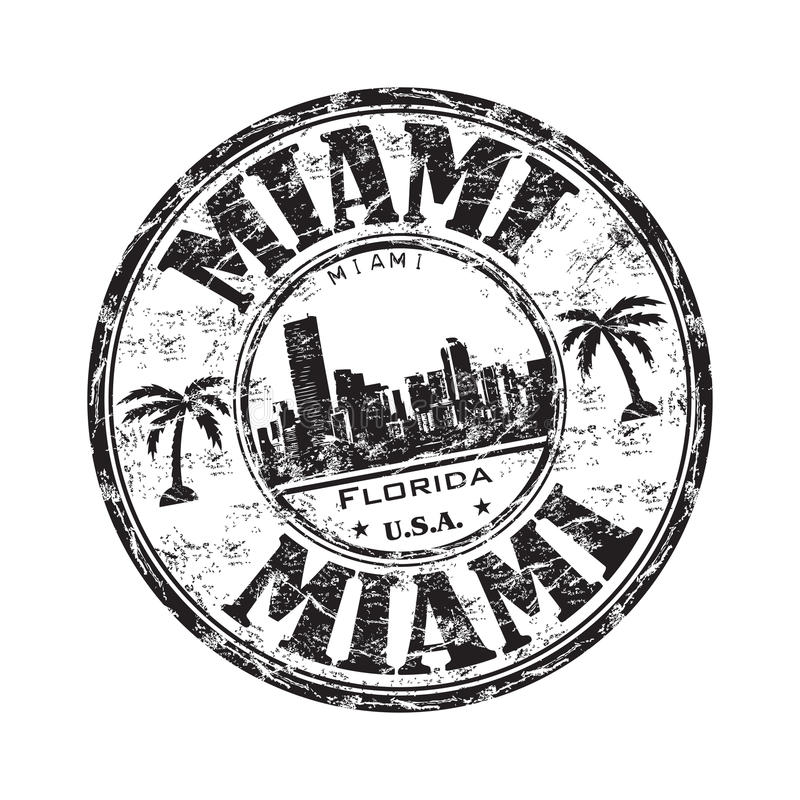 Timbro di gomma del grunge di Miami