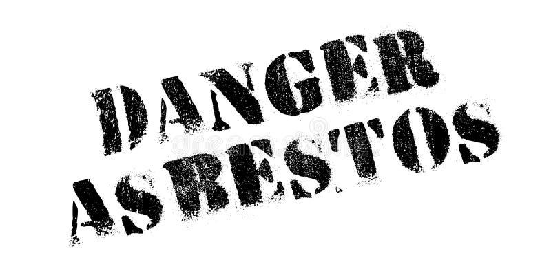 Timbro di gomma dell'amianto del pericolo illustrazione vettoriale