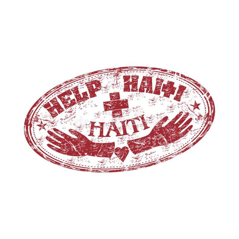 Timbro di gomma dell'Haiti di guida illustrazione di stock