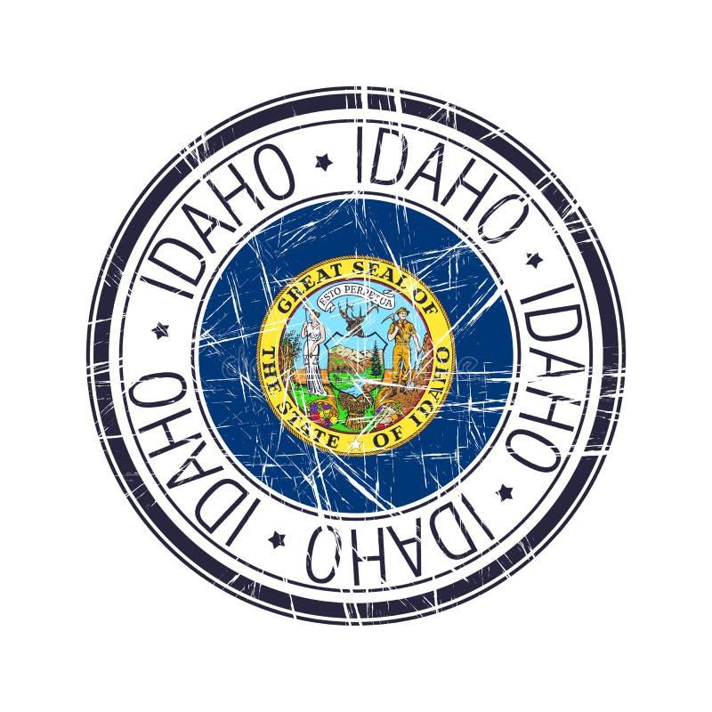 Timbro di gomma dell'Idaho illustrazione vettoriale
