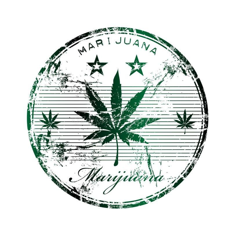 Timbro di gomma della marijuana royalty illustrazione gratis