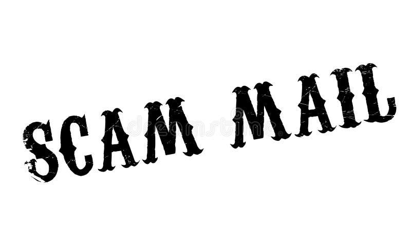 Timbro di gomma della posta di Scam royalty illustrazione gratis