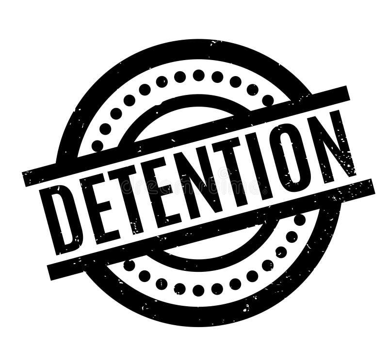 Timbro di gomma di detenzione royalty illustrazione gratis