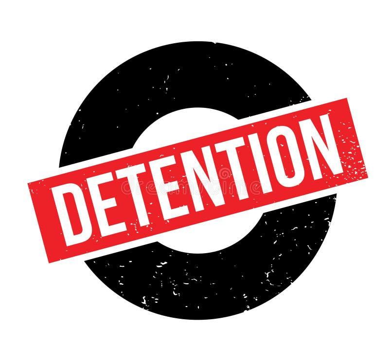 Timbro di gomma di detenzione illustrazione di stock