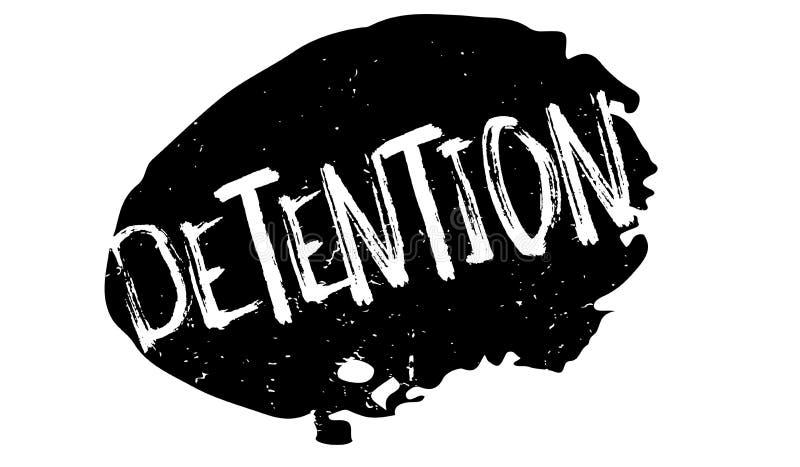Timbro di gomma di detenzione illustrazione vettoriale
