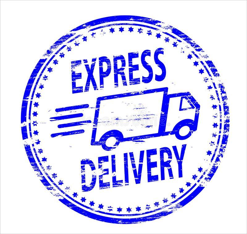 Timbro di gomma di consegna espressa illustrazione di stock