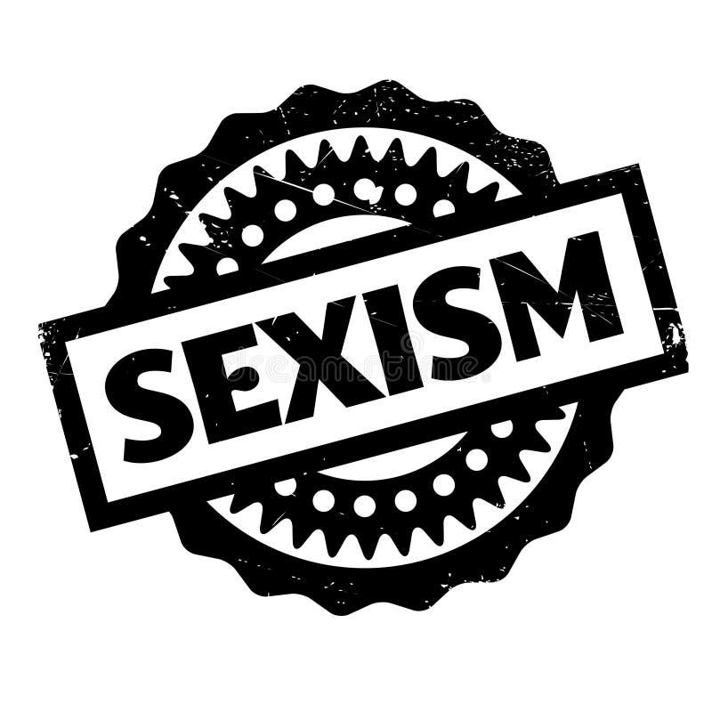 Timbro di gomma di discriminazione sessuale illustrazione di stock