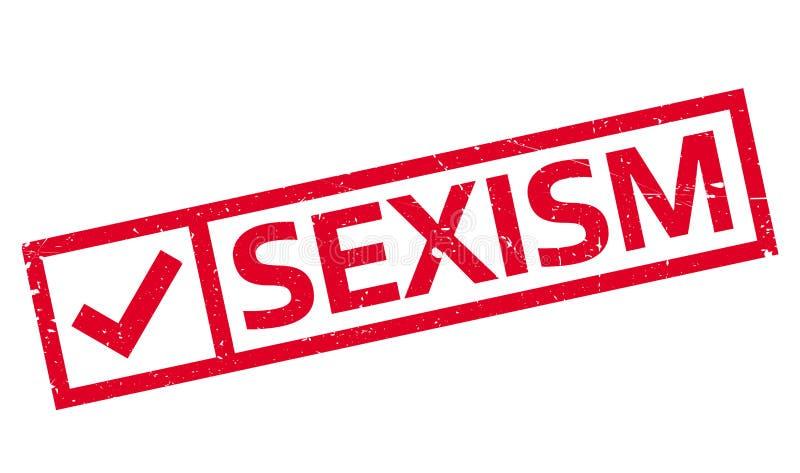 Timbro di gomma di discriminazione sessuale illustrazione vettoriale