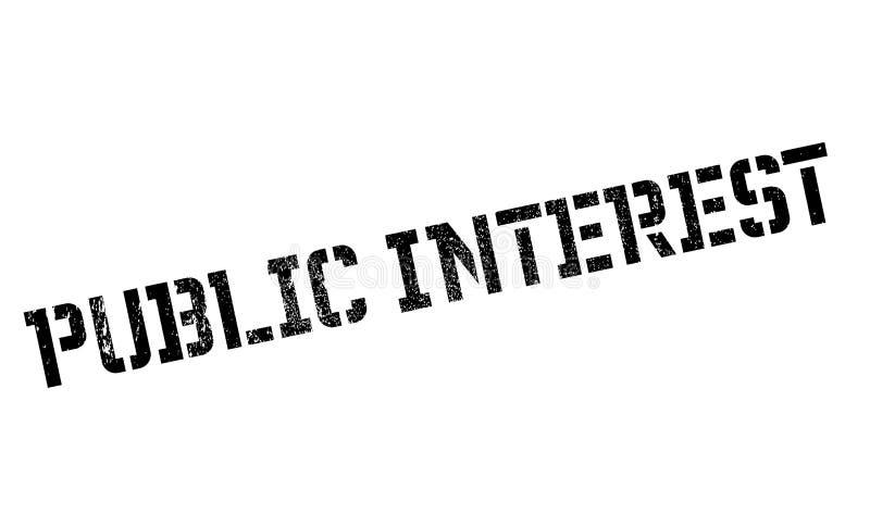 Timbro di gomma di interesse pubblico royalty illustrazione gratis