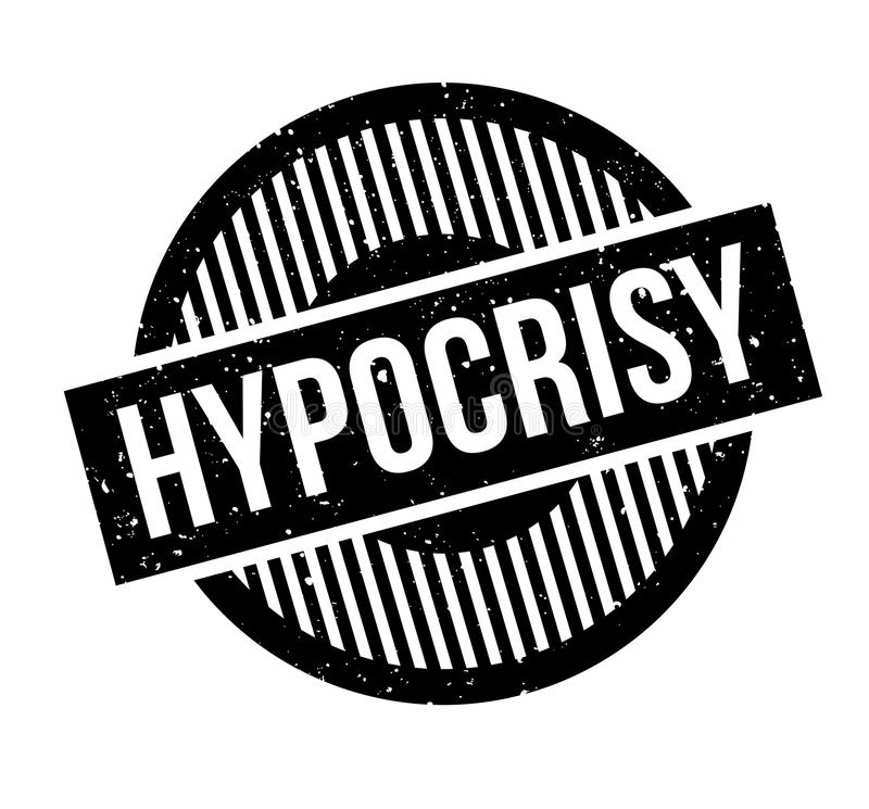 Timbro di gomma di ipocrisia royalty illustrazione gratis