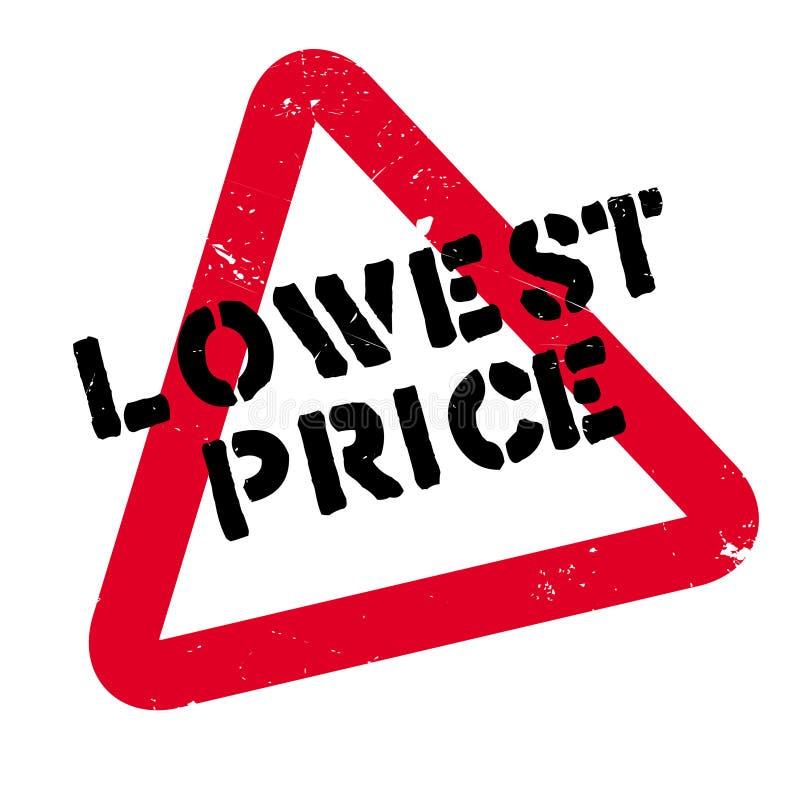 Timbro di gomma di prezzi più bassi immagine stock