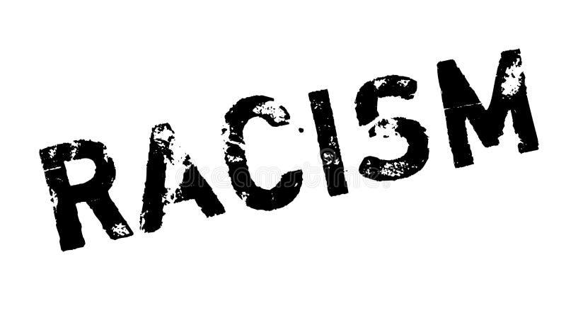 Timbro di gomma di razzismo illustrazione di stock