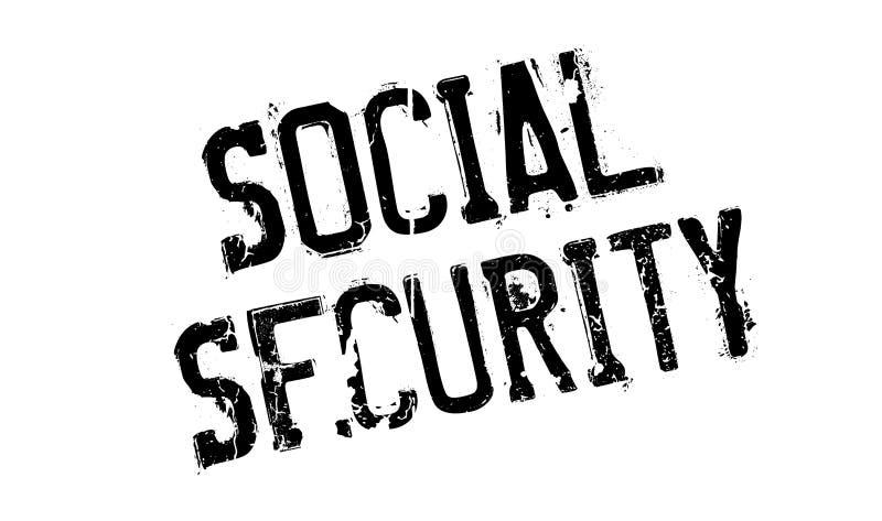 Timbro di gomma di sicurezza sociale illustrazione di stock