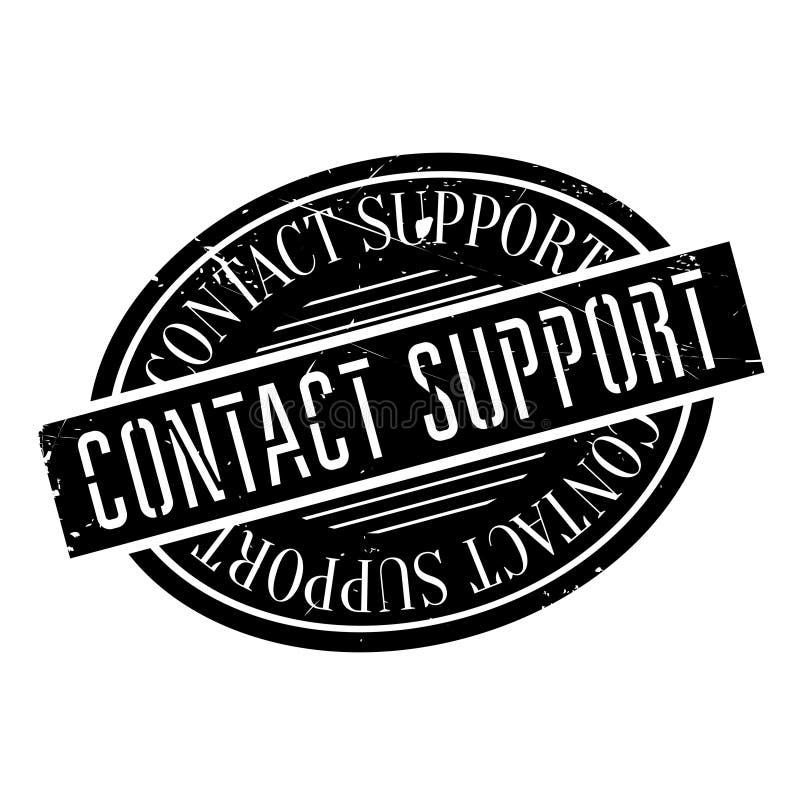Timbro di gomma di sostegno del contatto royalty illustrazione gratis