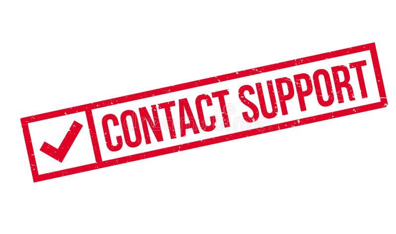 Timbro di gomma di sostegno del contatto illustrazione di stock