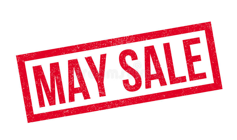 Timbro di gomma di vendita di maggio illustrazione di stock