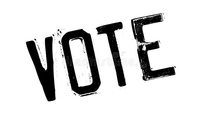 Timbro di gomma di voto illustrazione vettoriale