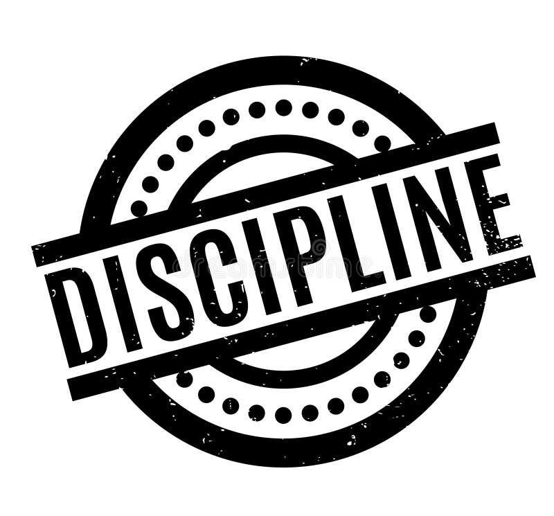 Timbro di gomma di disciplina illustrazione di stock