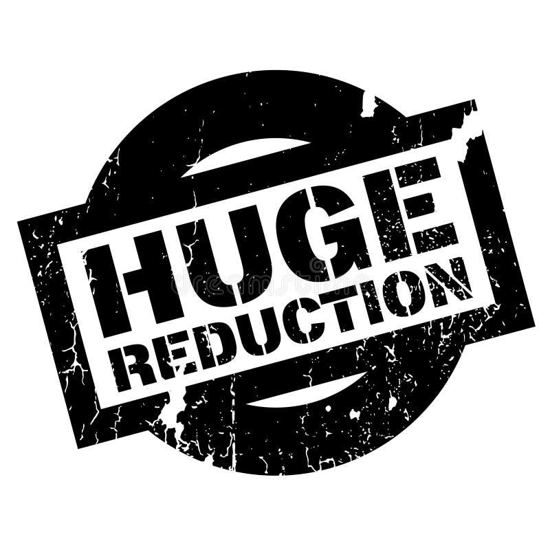 Timbro di gomma enorme di riduzione royalty illustrazione gratis