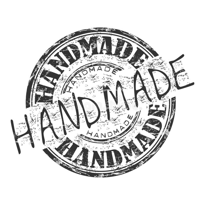 Timbro di gomma Handmade del grunge royalty illustrazione gratis