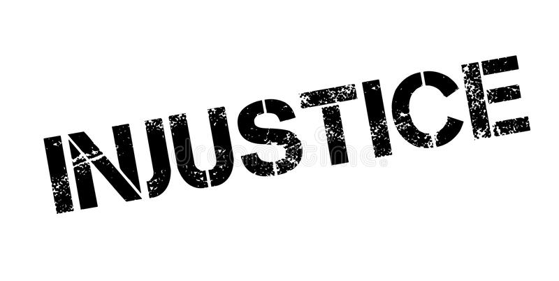 Timbro di gomma di ingiustizia illustrazione vettoriale