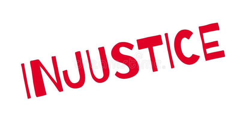 Timbro di gomma di ingiustizia royalty illustrazione gratis