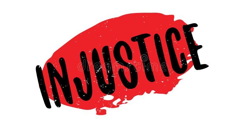 Timbro di gomma di ingiustizia illustrazione di stock