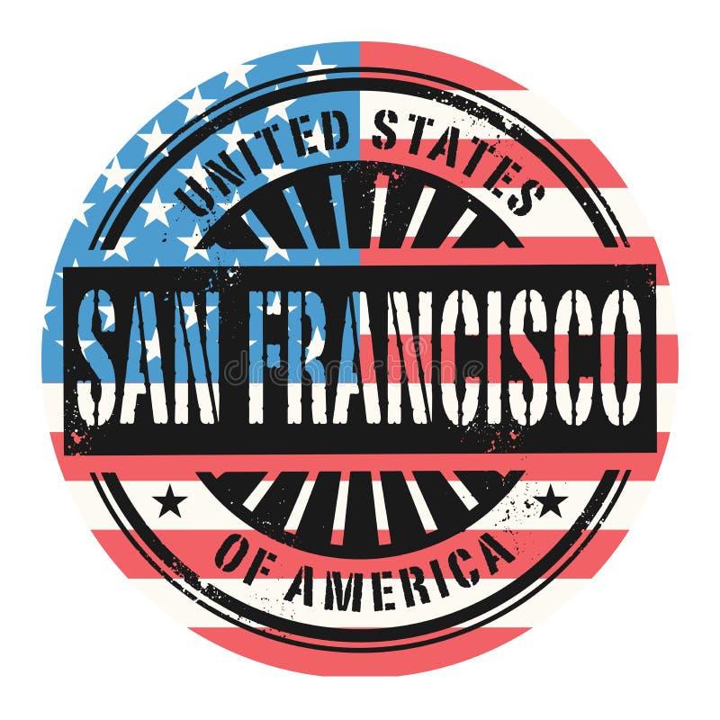 Timbro di gomma di lerciume con il testo Stati Uniti d'America, San royalty illustrazione gratis