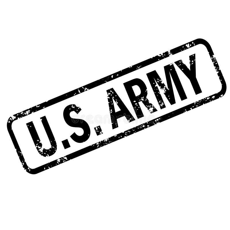 Timbro di gomma di lerciume dell'esercito di Stati Uniti su fondo bianco, segno del bollo dell'esercito di Stati Uniti Segno dell fotografia stock libera da diritti