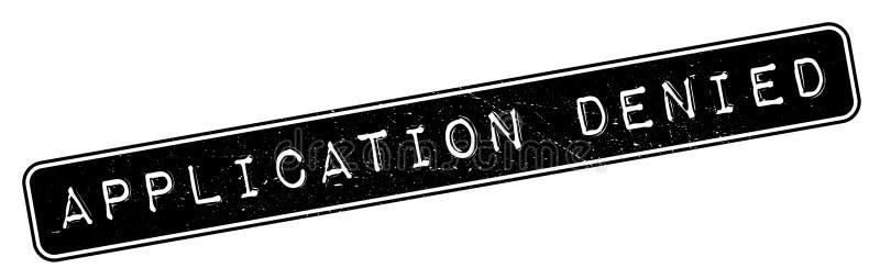Timbro di gomma negato applicazione illustrazione vettoriale