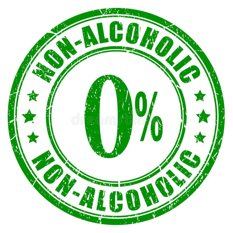 Timbro di gomma non alcolico illustrazione di stock