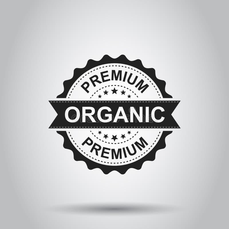 Timbro di gomma organico premio di lerciume illustrazione di vettore su briciolo royalty illustrazione gratis