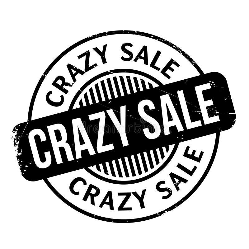 Timbro di gomma pazzo di vendita illustrazione vettoriale