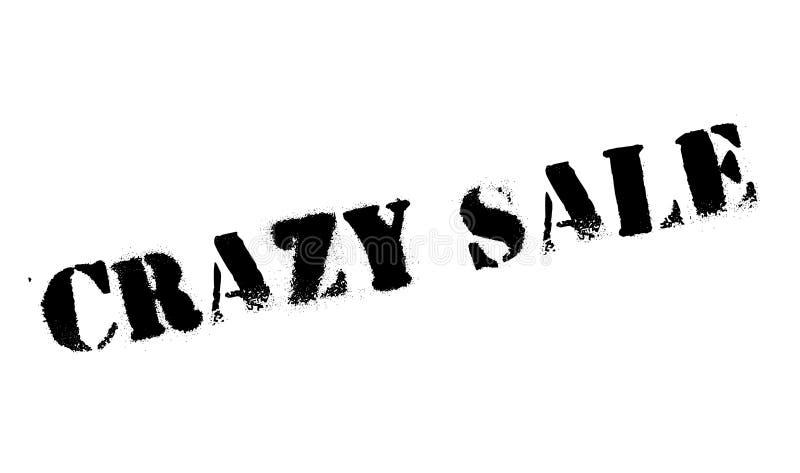 Timbro di gomma pazzo di vendita illustrazione di stock