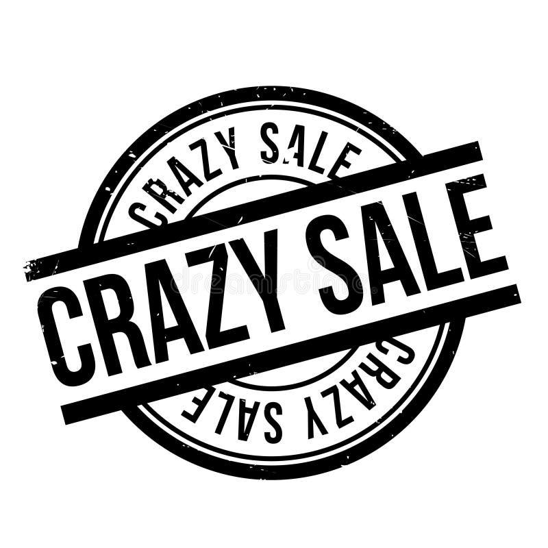 Timbro di gomma pazzo di vendita royalty illustrazione gratis