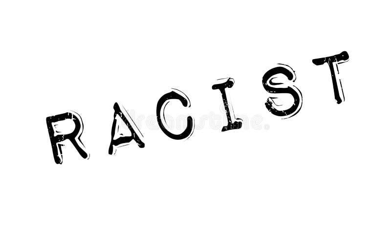 Timbro di gomma razzista illustrazione vettoriale
