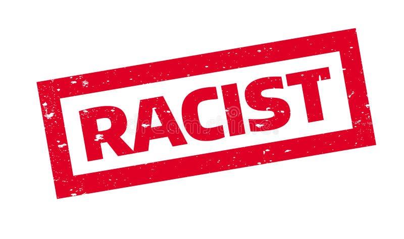 Timbro di gomma razzista illustrazione di stock