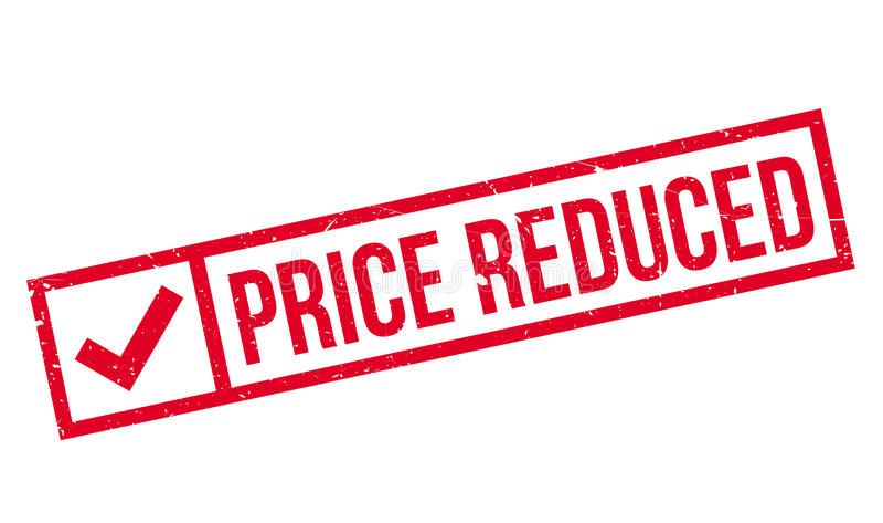 Timbro di gomma riduttore prezzo royalty illustrazione gratis