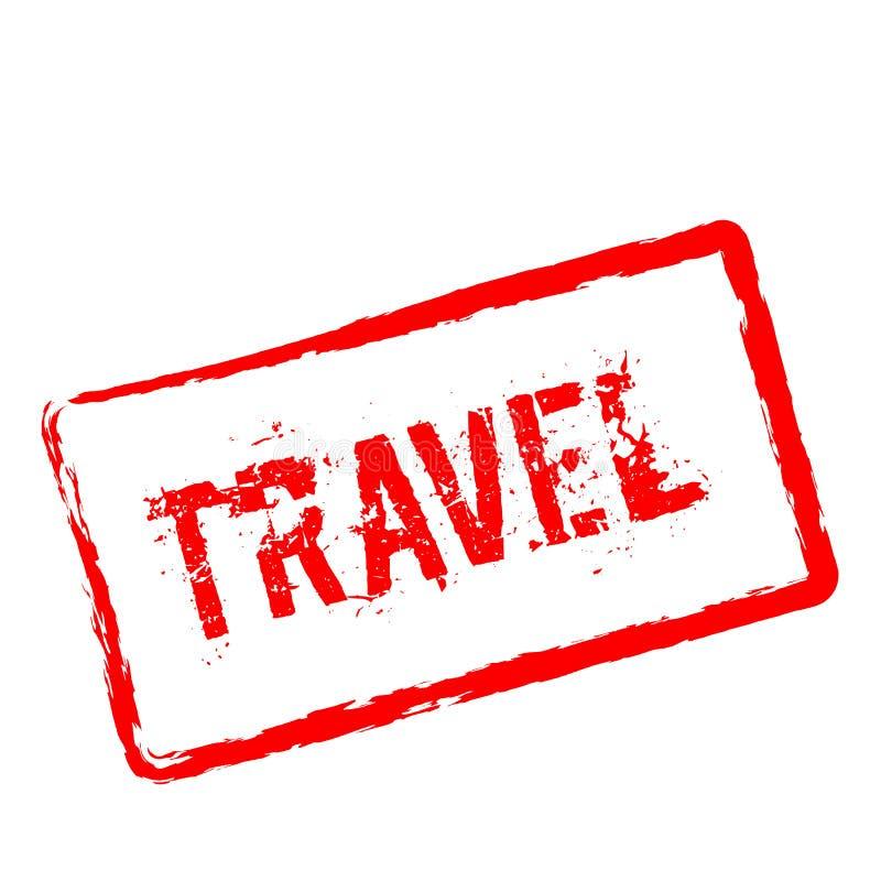 Timbro di gomma rosso di viaggio isolato su bianco royalty illustrazione gratis
