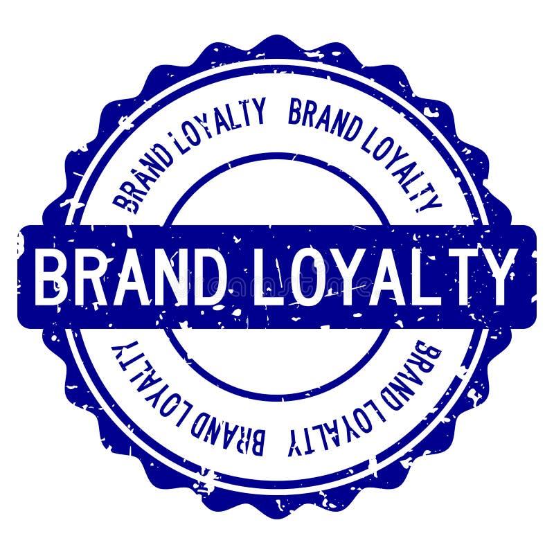 Timbro di gomma rotondo di parola blu di fedeltà alla marca di lerciume su fondo bianco royalty illustrazione gratis