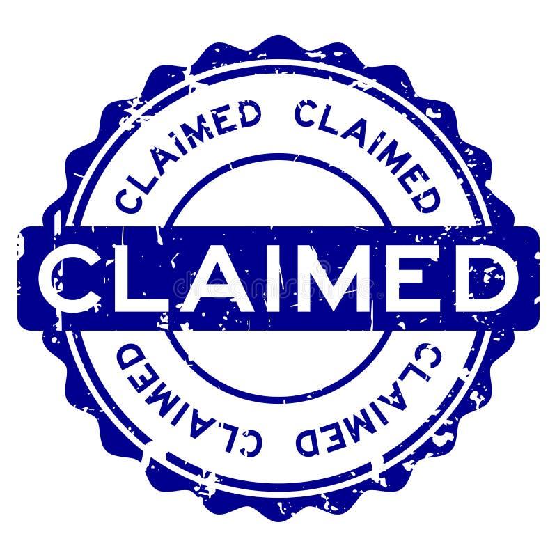 Timbro di gomma rotondo reclamato blu di parola di lerciume su fondo bianco royalty illustrazione gratis