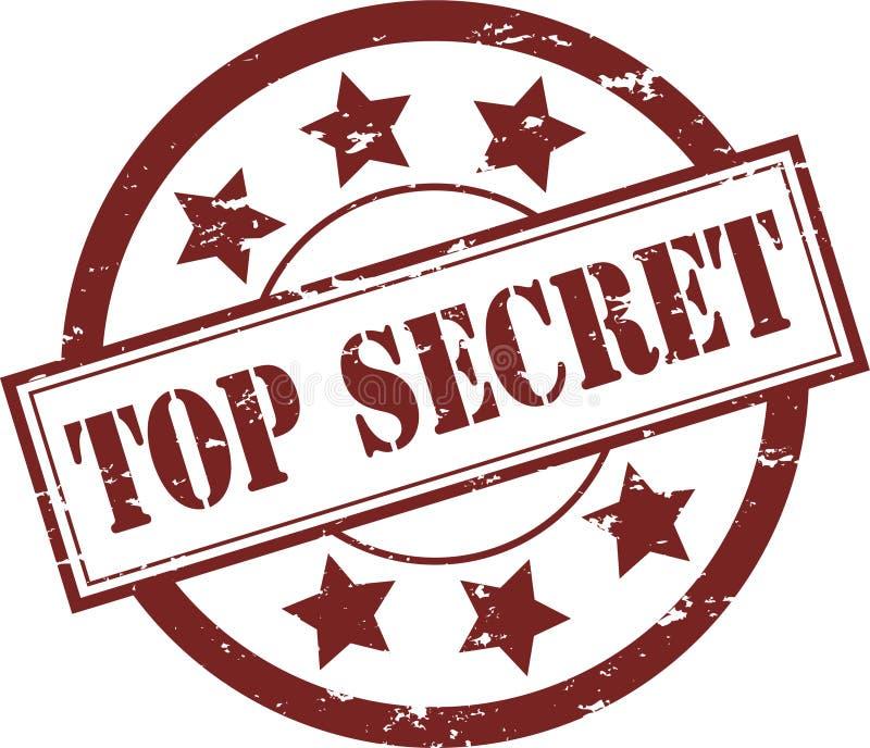Timbro di gomma top-secret (vettore) illustrazione di stock
