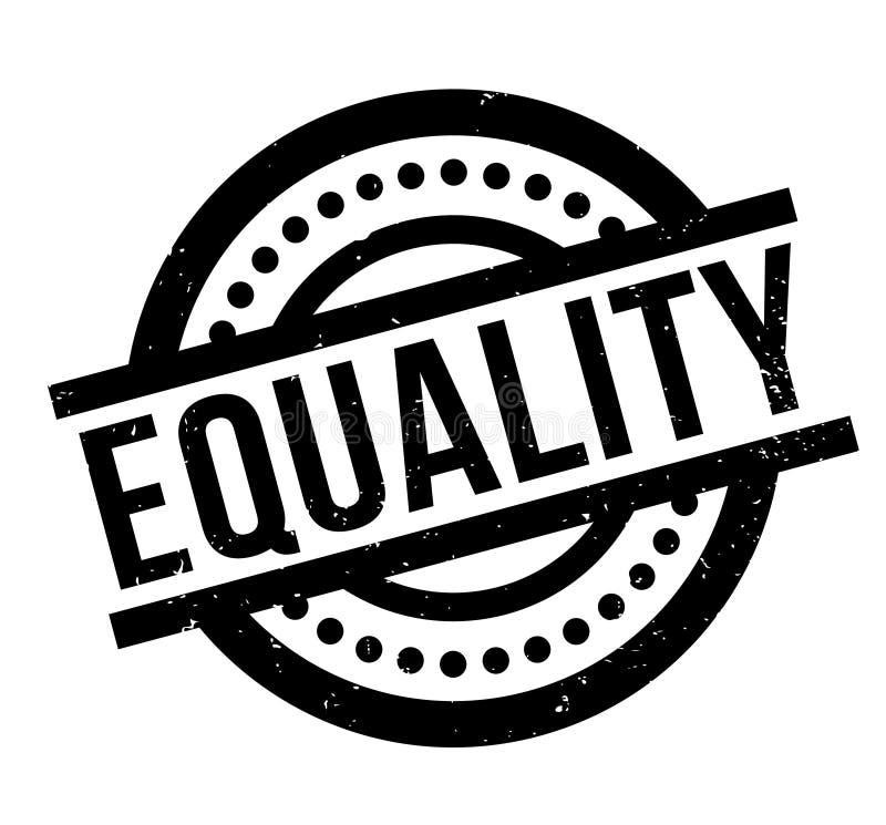 Timbro di gomma di uguaglianza illustrazione di stock