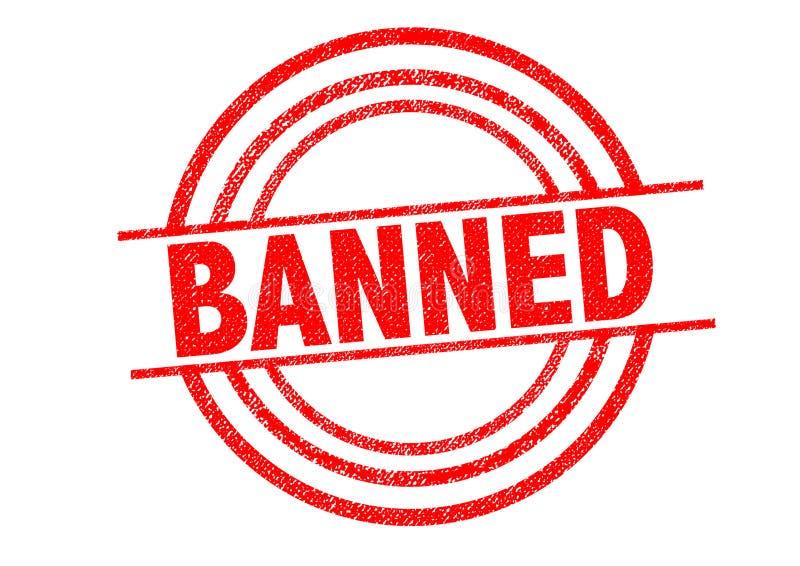 Timbro di gomma vietato illustrazione vettoriale
