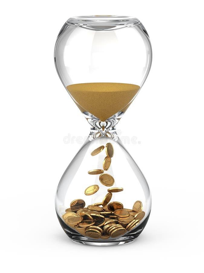 Time är pengarbegreppet royaltyfri illustrationer